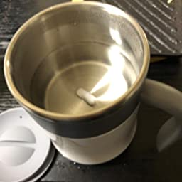 Amazon 高品質自動ミキサーカップ 自動撹拌 ステンレス マグカップ 自動磁気撹拌カップ ミキシングカップ コーヒーカップ 電池なし お湯入れ自動撹拌 保温 自己攪拌マグオートコーヒー 飲料 お茶カップ コンパクト クリーン簡単 フタ付き 防水 軽量 家庭 仕事 旅行