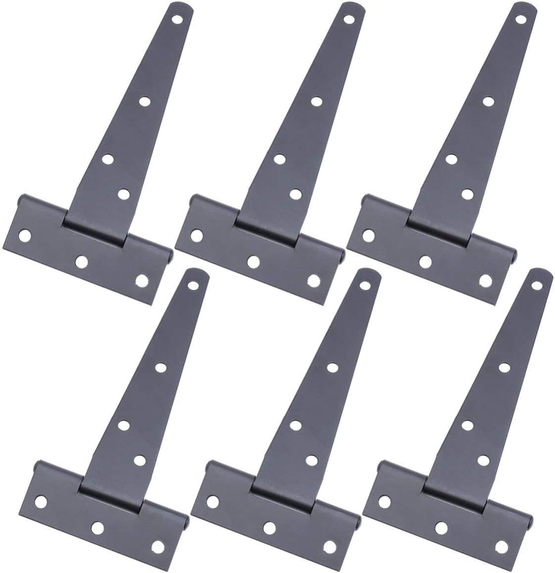 Yarnow 2 Piezas Bisagras Bisagras de Servicio Pesado Bisagras de Correa para Puerta de Cobertizo de Almacenamiento Puertas de Granero 5 Pulgadas Negro