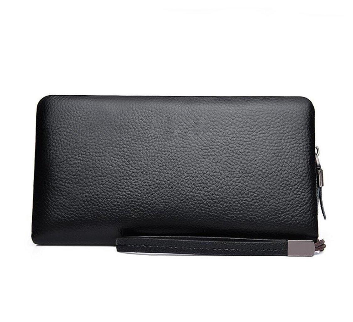 GHGJU メンズ クラッチバッグ 財布 カジュアル エンボス加工 大容量 リストバッグ ビジネスバッグ Size 78143 Size ブラック1 B07HD6LL5J