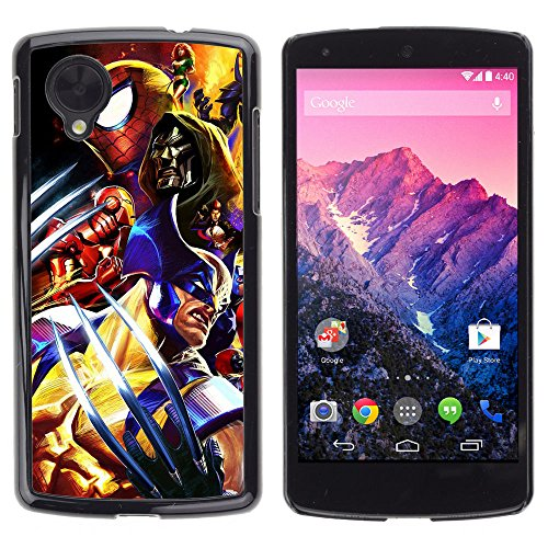 CASETOPIA / Video Game Charachters / LG Google Nexus 5 D820 D821 / Black Hard Back Case Cover Shell Armor (Cartoon Charachters)