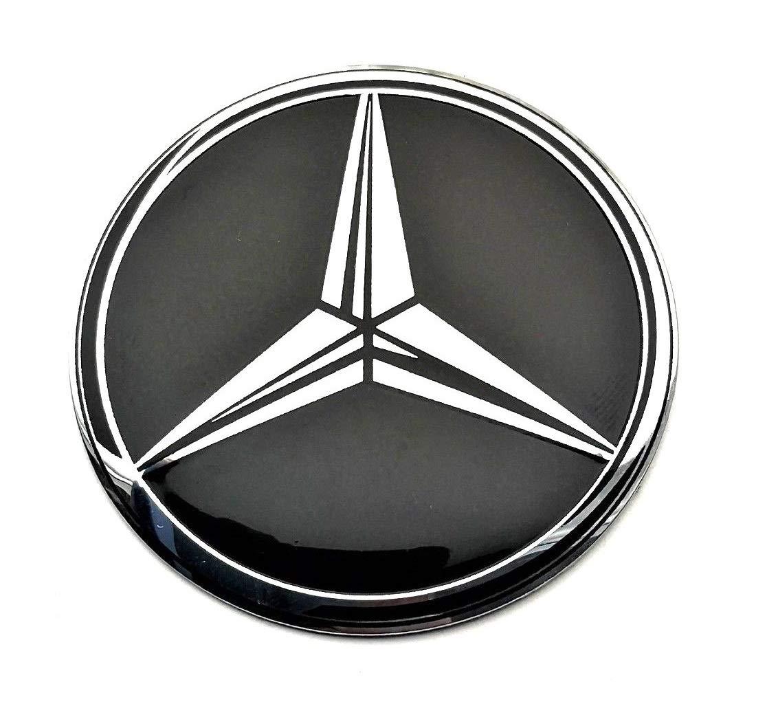 Set di 4 stemma adesivi 65mm per tappi cerchi ruote copriruote copricerchi coprimozzi cerchioni MercedesBenz