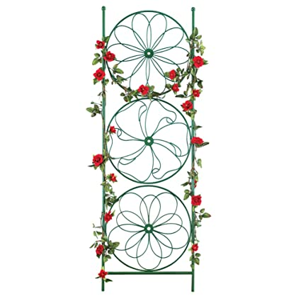 Collections Etc Decorative Garden Art Trellis Stake Support For Climbing  Plants 11.5u0026quot; ...