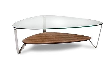 Amazon Com Bdi 1343 Wl Dino Large Glass Coffee Table Natural
