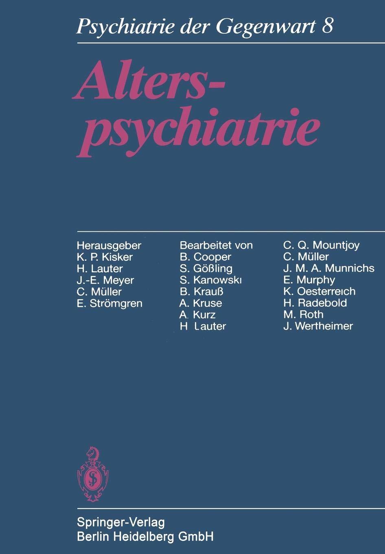 Alterspsychiatrie (German Edition)