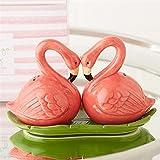 Pink Flamingo Party Salt and Pepper Shaker Set
