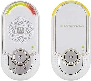 Motorola MBP 8 - Baby monitor audio digitale 'plug-n-go' con modo eco e luce notturna, bianco