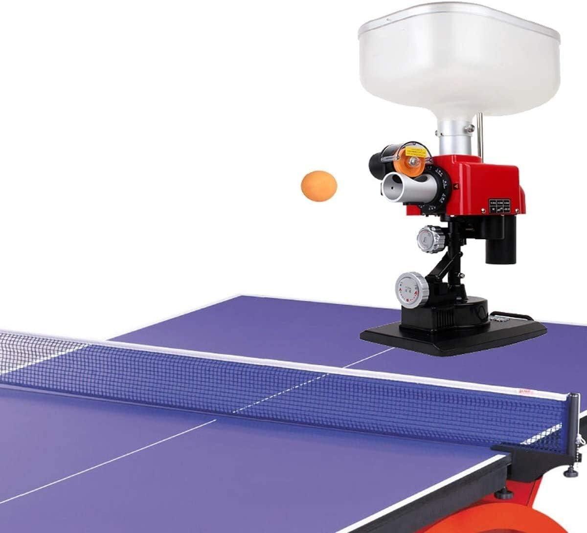 KDKDA Ping-pong Máquina robot Mesa de ping pong robot equipado con tabla de control de tenis robot con Net ping-pong de la bola de la máquina automática de la máquina Mesa de ping pong for la Formació