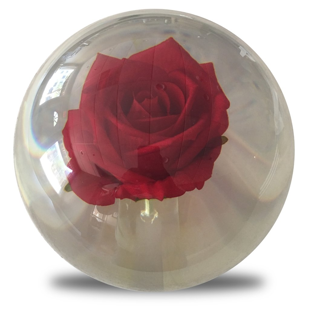 KR Clear Red Rose Bowling Ball- 14lbs by Bowlerstore Products