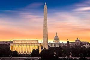 New Dawn Over Washington DC Photo Photograph Cool Wall Decor Art Print Poster 36x24