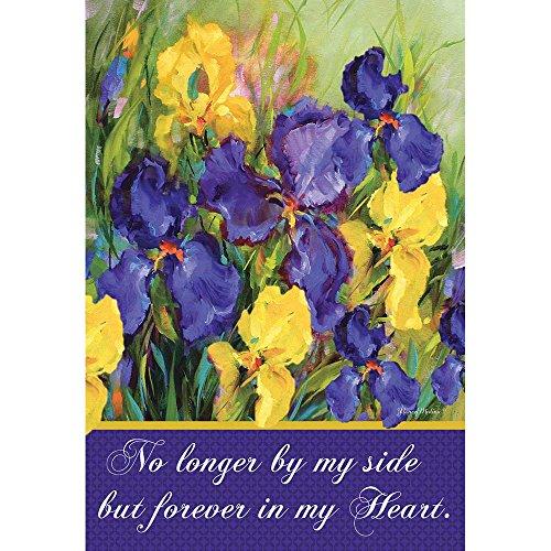 Small Iris Garden - Forever in My Heart Purple and Yellow Iris 18 x 13 Rectangular Small Garden Flag