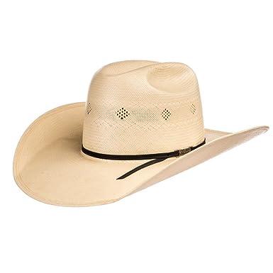 2d60196a235 American Hat Company Mens Fancy Vent Black 4 1 4 Brim Straw Cowboy Hat 63