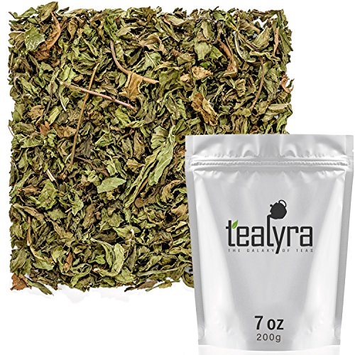 Tealyra - Pure Spearmint Leaves - Best African Moroccan Mint Tea - Herbal Loose Leaf Tea - Relaxing - Digestive - Caffeine-Free - 200g (7-ounce)