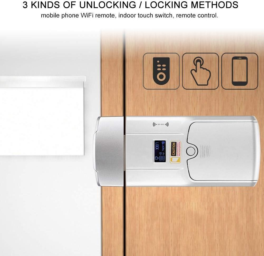 Locker No-holes Wifi Lock Door Key-less Lock reminder Office upgrade Home safety glass doors wooden doors for Hotel renovation Factory Improvement