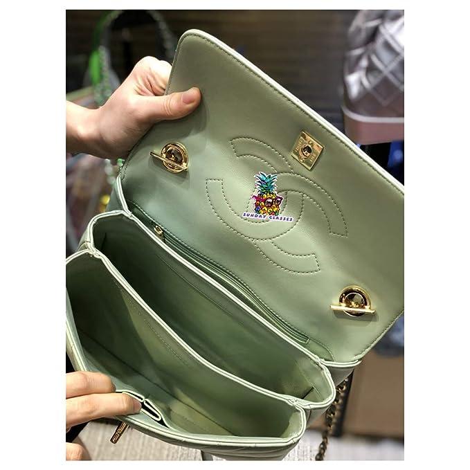 4d6a18f32936 Amazon.com: Boy Double C Bag V line 92236 Small Flap Bag with Top Handle  Lambskin & Gold-Tone Metal Women's Crossbody Shoulder Bag - Green:  Computers & ...