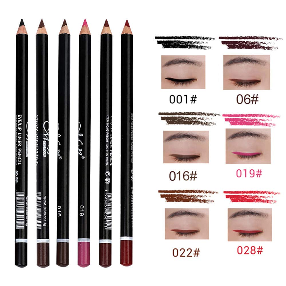 Vmree 12 Pcs Eyeliner Eye Shadow Pen Waterproof Lt Pro Pencil Liner Makeup White Beauty