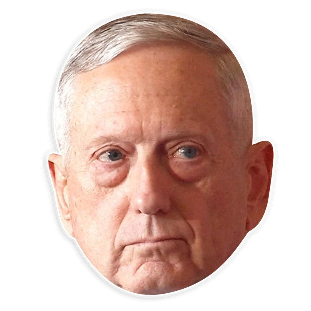 Unwelcome Greetings Serious James Mattis Mask - Perfect for Halloween, Masquerade, Parties, Events, Festivals, Concerts - Jumbo Size Waterproof
