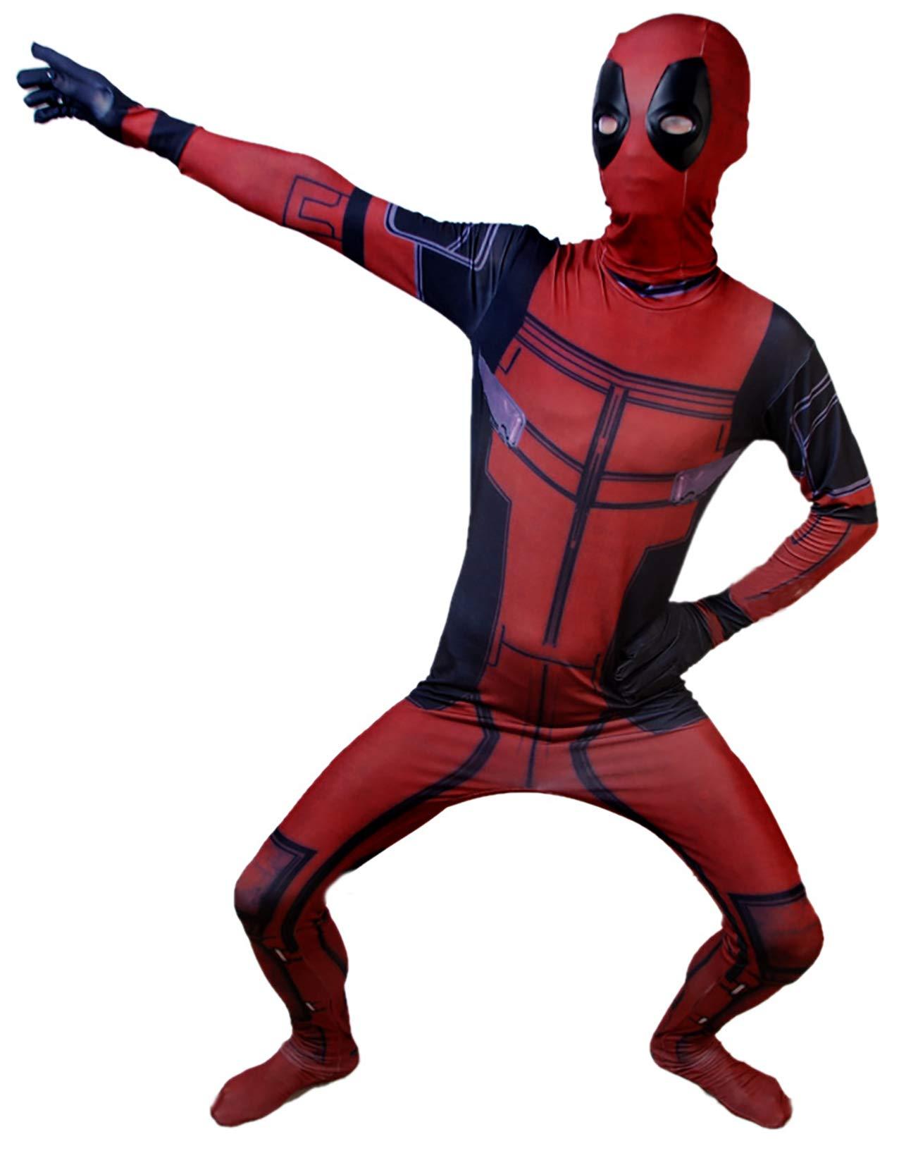 - 612ZdafkRUL - DANNEL Unisex DP Spandex Zentai Superhero Costume Halloween Cosplay Bodysuit Adult/Kids