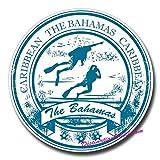 2 x 10cm/100mm Bahamas Scuba Diving Diver Cool Funny Vinyl Sticker Decal Laptop Travel Luggage Car iPad Sign Fun #0162