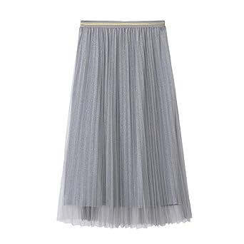 Finebo - Falda plisada para mujer, elegante, diseño de princesa ...