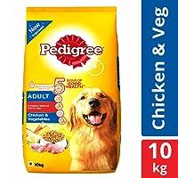 Pedigree Adult Dry Dog Food, Chicken and Vegetables, 10 kg