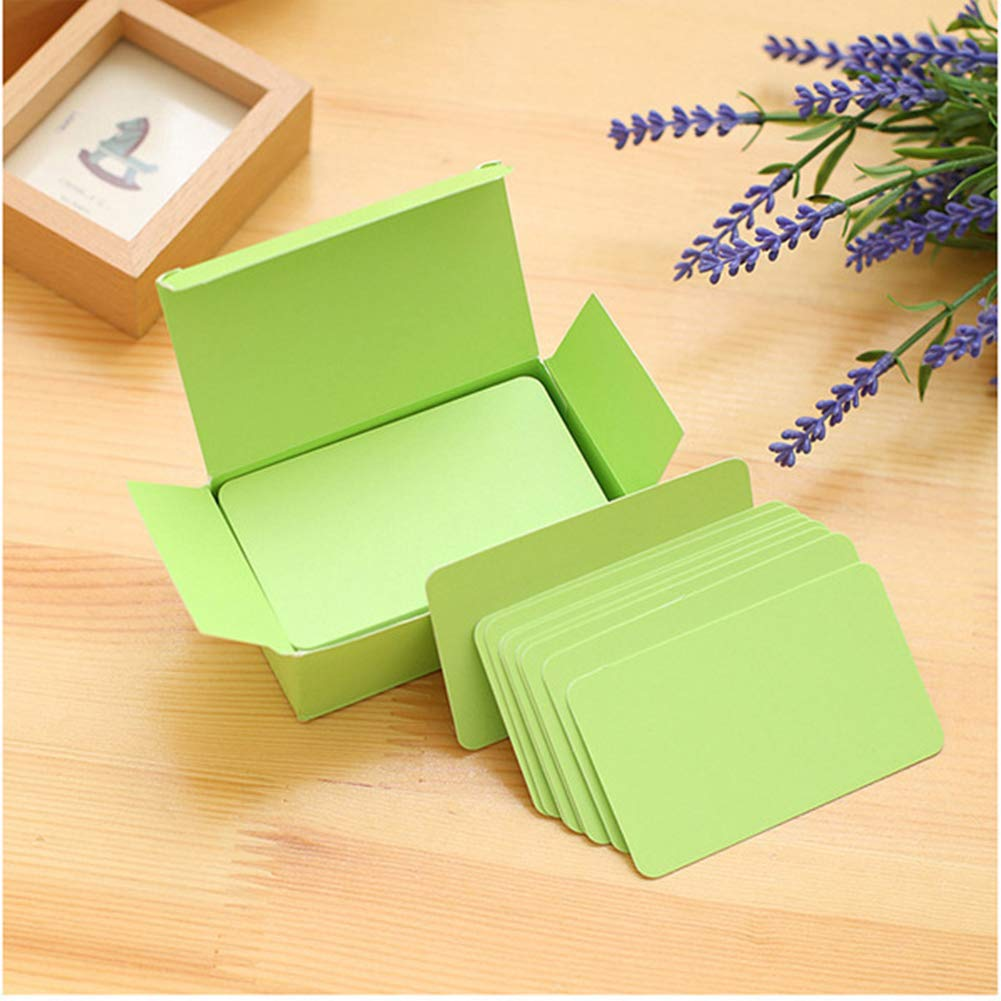 Yellow Syndecho Blank Kraft Business Cards Vocabulary Flash Card Handmade Gift Tags Price Labels 9.4x4.5CM
