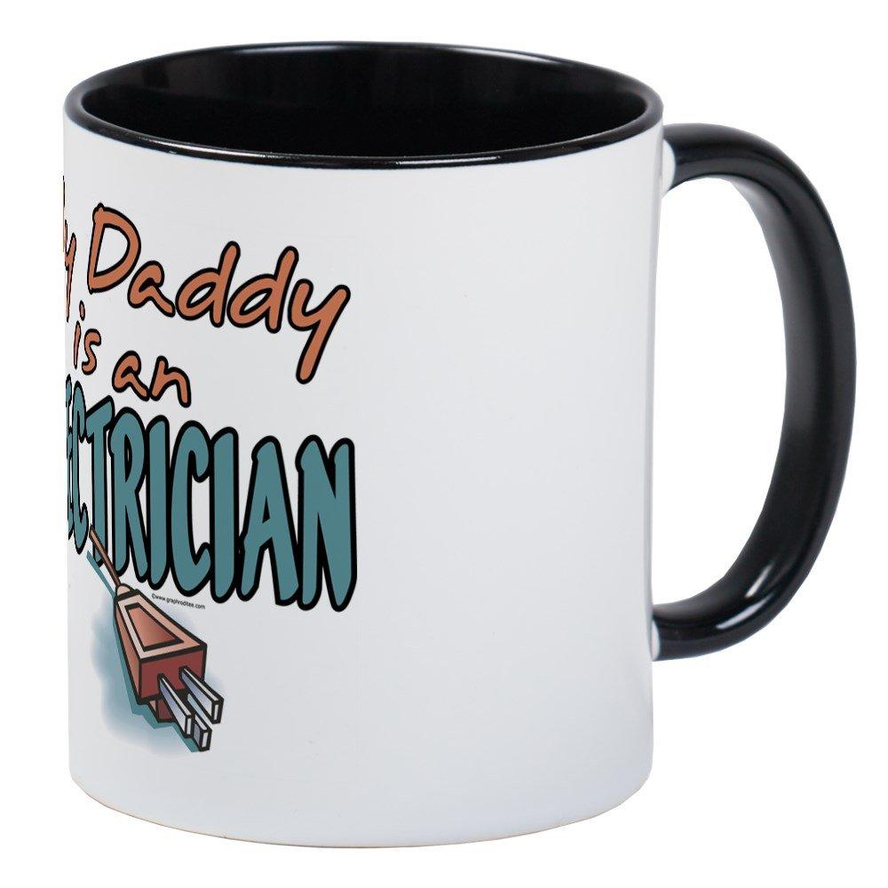 CafePress - My Daddy es un electricista - Único taza de café, taza ...
