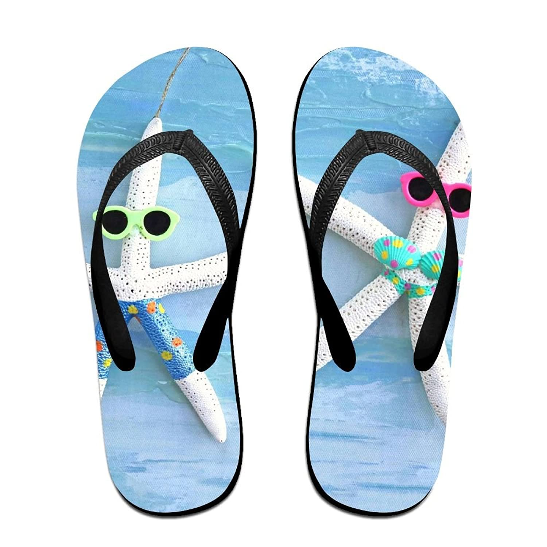 8cf92e01f0f88 WXDKL Flip Flops Beach Starfish Ornament Slippers For Women Men Kids ...