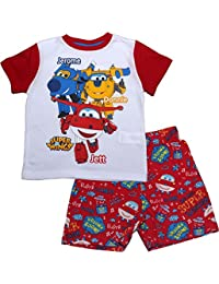 Super Wings Boys On Time Rotary Short Sleeve Pyjama Set - Spring Summer Collection