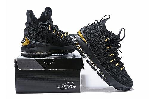brand new e9361 87128 bashy fashion 2018 Nike Lebron XV Black- Basketball Shoes ...