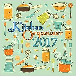 kitchen organizer food planner 2017 monthly wall calendar 12 x
