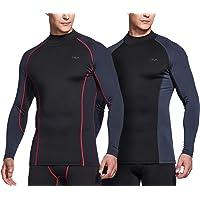 (テスラ)TESLA メンズ 冬用起毛 長袖 ハイネック スポーツシャツ[吸湿発熱・防寒・保温]コンプレッションウェア パワーストレッチ アンダーウェア
