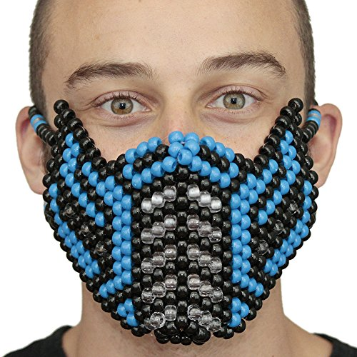 Mortal Kombat Costume Kandi Masks by Kandi Gear (blue1) -