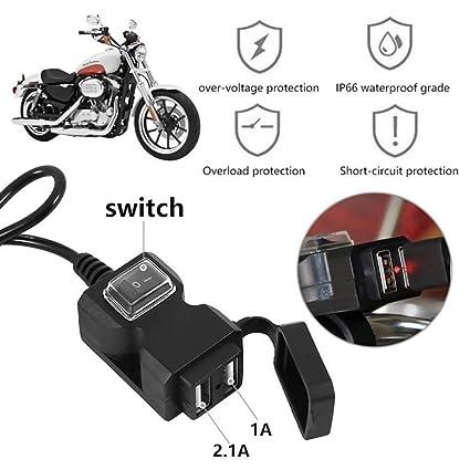 Cargador de motocicleta para teléfono móvil, cargador USB ...