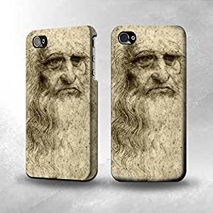 Apple iPhone 4 / 4S Case - The Best 3D Full Wrap iPhone Case - Da Vinci Face