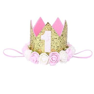 Kopfschmuck Elastisch Prinzessin Baby-Stirnband Spitze Blumen Krone Haarband