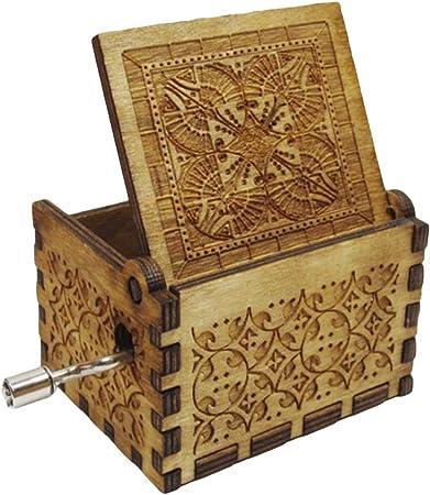 Caja musical de madera con grabado a mano de Harry Potter con diseño de peluca: Amazon.es: Hogar