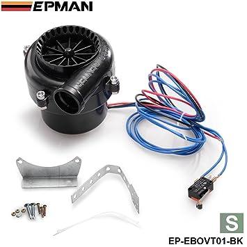 epman - S Fake Válvula de descarga electrónico Turbo Interruptor de sonido analógico BOV Blow Off Válvula Blow Off ep-ebovt01: Amazon.es: Coche y moto