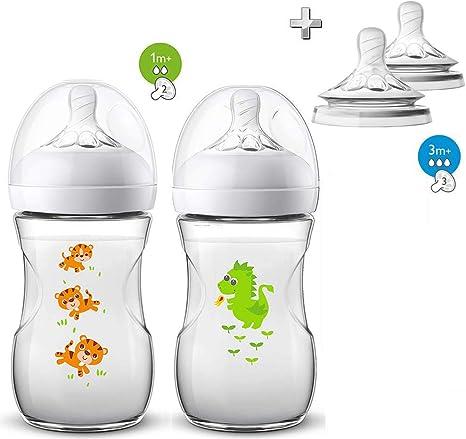 Accesorios de bebé naturales de Philips Avent, incluye 4 tetinas ...
