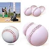 iNextStation Sports Soft Rubber baseballs Batting Practice Balls Training Baseball Standard Size 9 inch Circumference White -Pack of 12