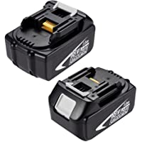 2 Pack Masione 18v 3.0Ah Lithium Battery for Makita BL1830 LXT Lithium Cordless Battery BL1840 BL1850 BL1815 194230-4 LXT Lithium Ion Heavy Duty Battery Pack