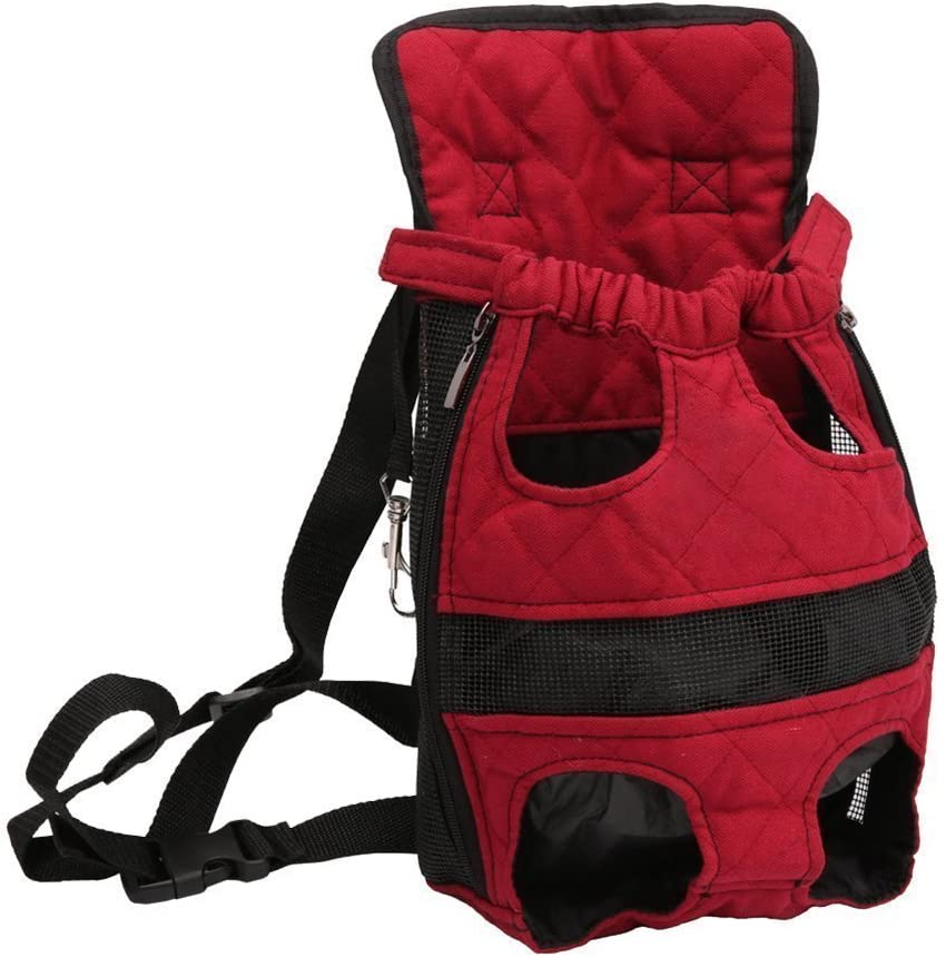 Pet Carrier Backpack New Upgrade Adjustable Safe Cat Dog Front Bags Lightweight Head Legs Tail Out Hands Free for Traveling Hiking Camping