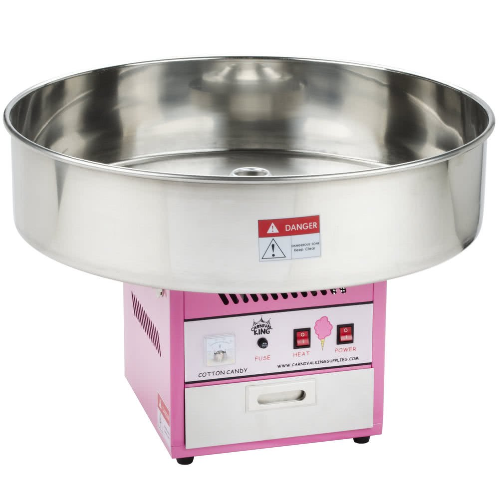 Tabletop King CCM28 Cotton Candy Machine with 28'' Stainless Steel Bowl - 110V