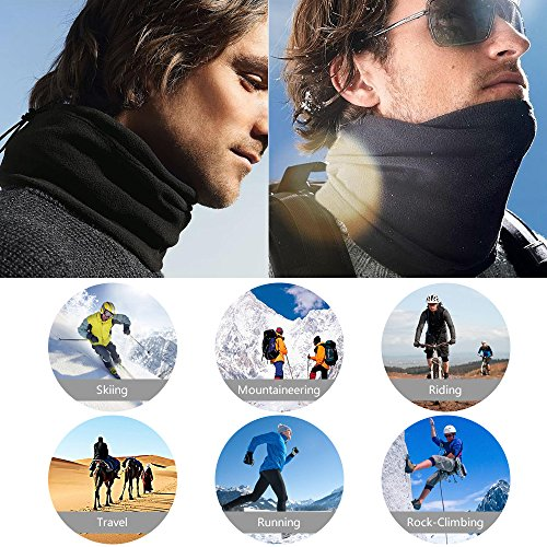 SBParts Multifunctional Outdoor Warm Unisex Fleece Sports Neckwear Winter Snood Scarf Ski Wear by SBParts (Image #2)