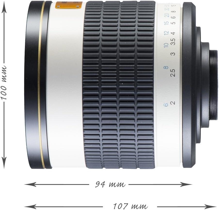 Walimex pro 800//8,0 DX Teleobjetivo de Espejo para Fuji XPRO