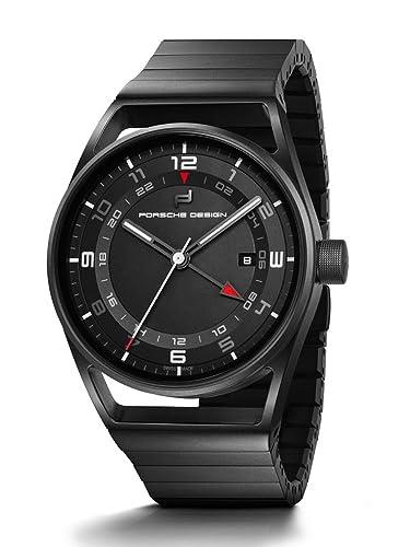 Reloj Automático Porsche Design 1919 Globetimer, GMT, Titanio, Negro: Amazon.es: Relojes