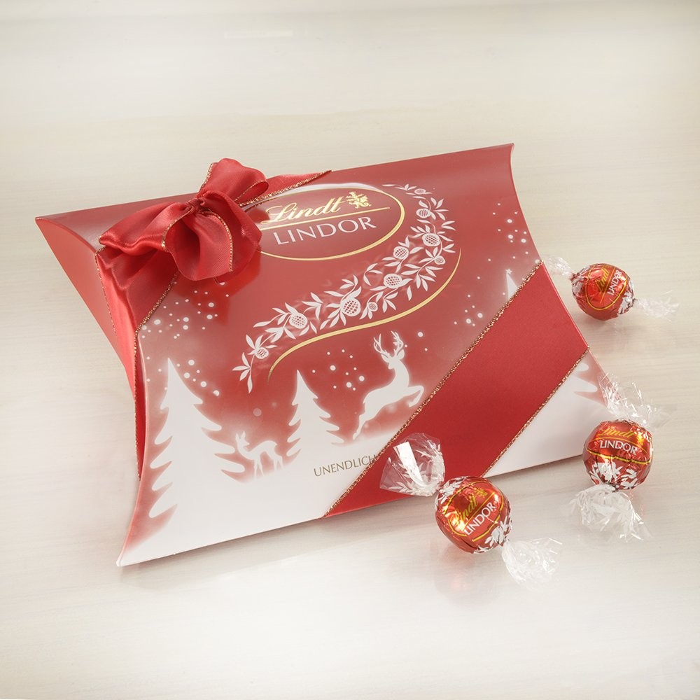 Lindt Lindor milk pillow pack 325g: Amazon.co.uk: Grocery