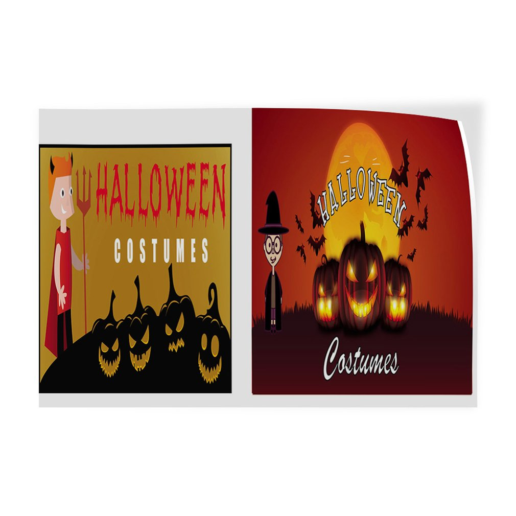 52inx34in Decal Sticker Multiple Sizes Halloween Costumes #1 Style C Holidays and Occasions Halloween Outdoor Store Sign red Set of 2