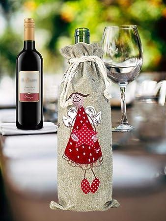 Suéter Feo Tapas De Botellas De Vino De Navidad Tapas De Botella De Vino De Vacaciones