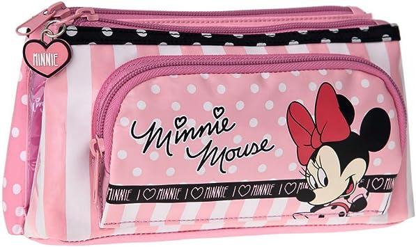 Disney Minnie Mouse Estuche Escolar, Rosa: Amazon.es: Equipaje