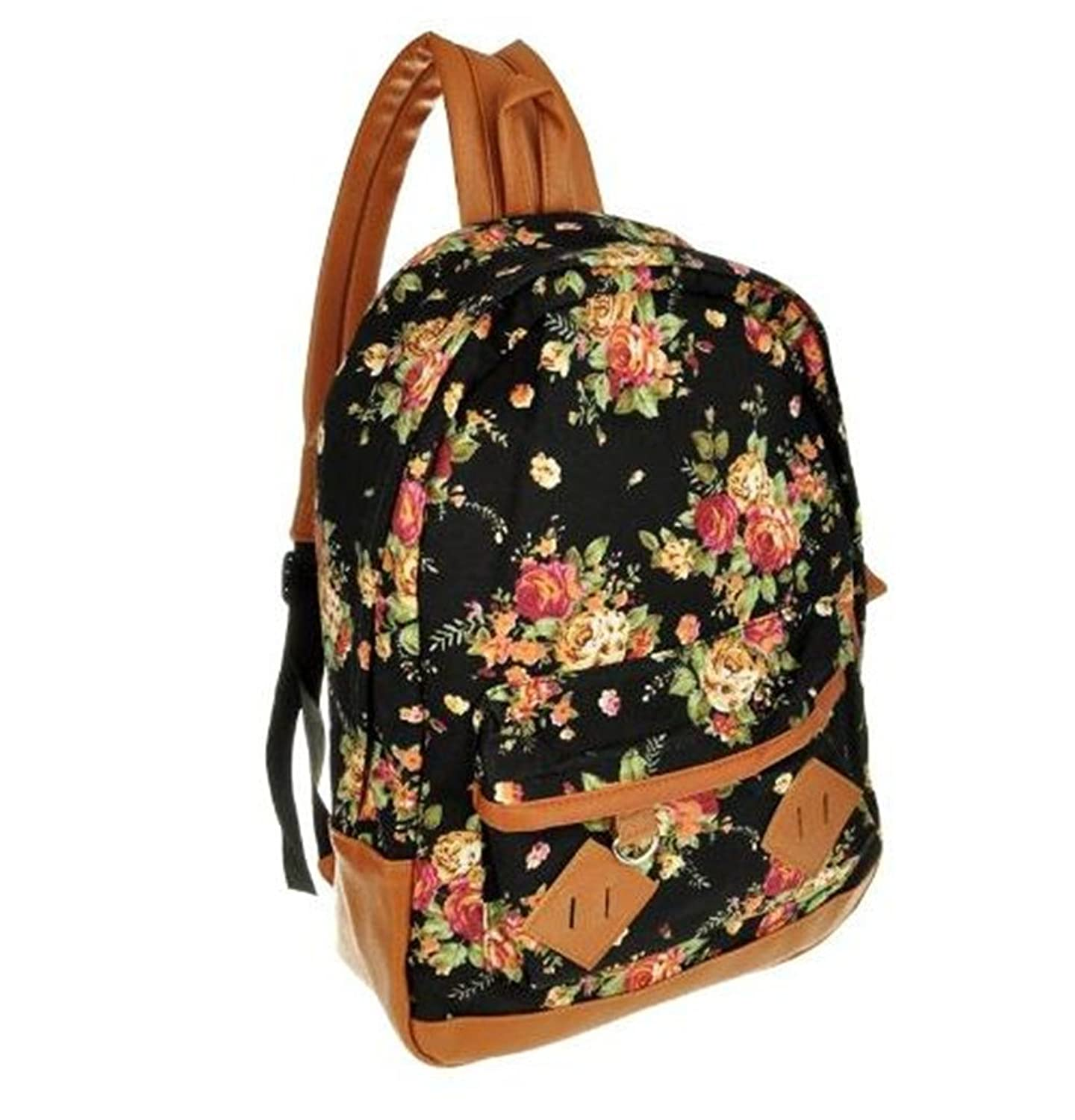 Women girl lady Fashion Vintage Cute Flower School Book Campus Bag ...